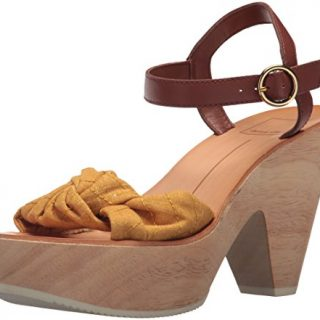 Dolce Vita Women's SHIA Wedge Sandal Saffron Fabric