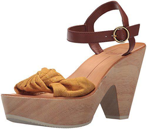 Dolce Vita Women's SHIA Wedge Sandal Saffron Fabric