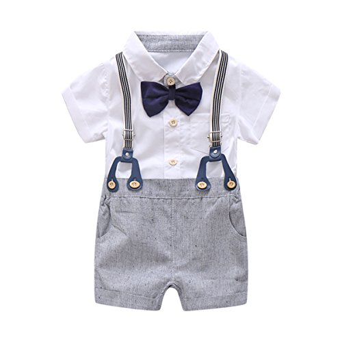 Baby Boys Gentleman Outfits Suits, Infant Short Sleeve Shirt