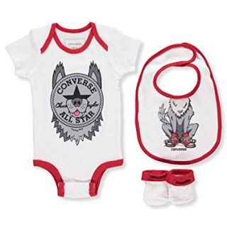 Converse Baby Boys' 3-Piece Layette Set - Wolf Gray
