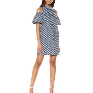 Trina Trina Turk Women's Cali Cold Shoulder Shirt Dress