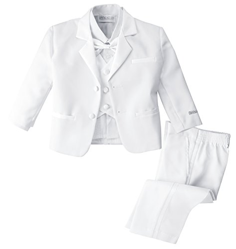 Spring Notion Baby Boys' White Classic Fit Tuxedo Set