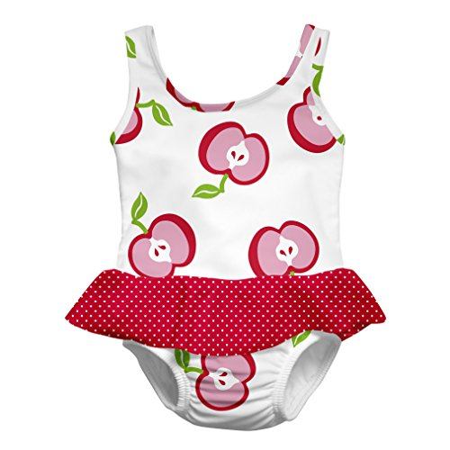 i play. Girls Skirty Swimsuit with Built-in Reusable Swim Diaper