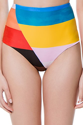 Mara Hoffman Women's Lydia Colorblocked High Waist Bikini