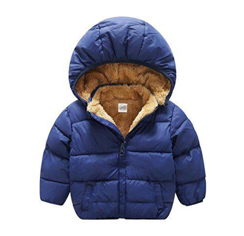Baby Boys Girls Winter Puffer Coat Unisex Kids Fleece Lined Jacket