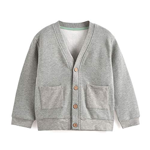 Aimama Toddler Boys Long Sleeve V-Neck Classic Cardigan Sweater