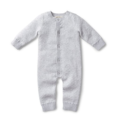 Hope & Henry Layette Heather Grey Romper