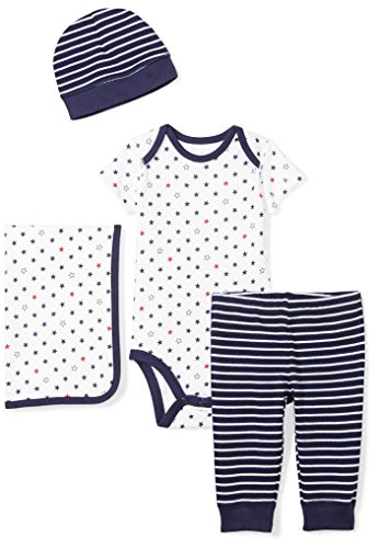 Moon and Back Baby Infant 4-Piece Organic Gift Set