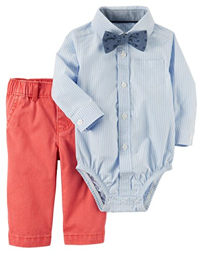 Carter's Baby Boys' Long Sleeve Bowtie Bodysuit and Pants