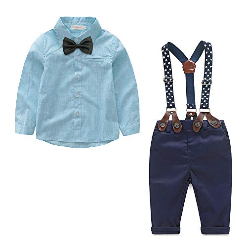 Yilaku Baby Boy Dress Clothes Toddler Outfits Infant Tuxedo
