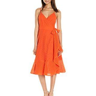 Trina Turk Women's Kacie Embarcadero Eyelet Wrap Dress