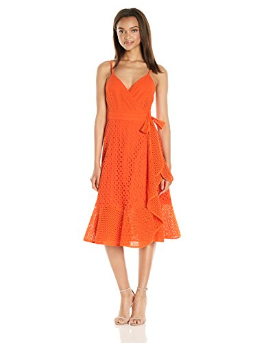 Trina Turk Women's Kacie Embarcadero Eyelet Wrap Dress