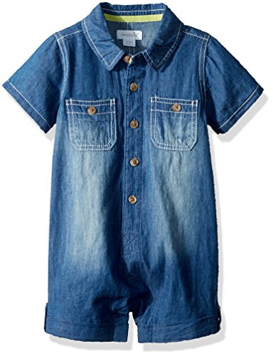 Mud Pie Baby Boys Chambray One Piece Short Sleeve Playwear