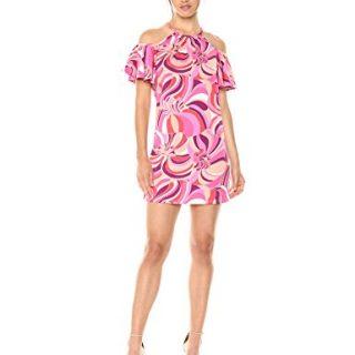Trina Trina Turk Women's Viola Cold Shoulder Dress