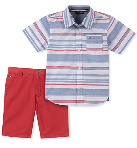 Tommy Hilfiger Baby Boys 2 Pieces Shirt Shorts Set