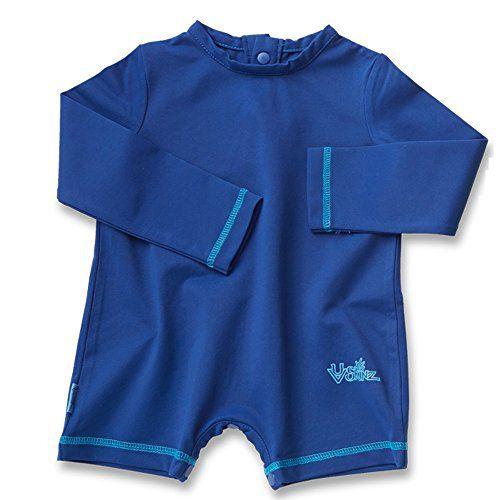 UV SKINZ UPF50+ Baby Boy UV Sunzie-Navy Blue-3/6m