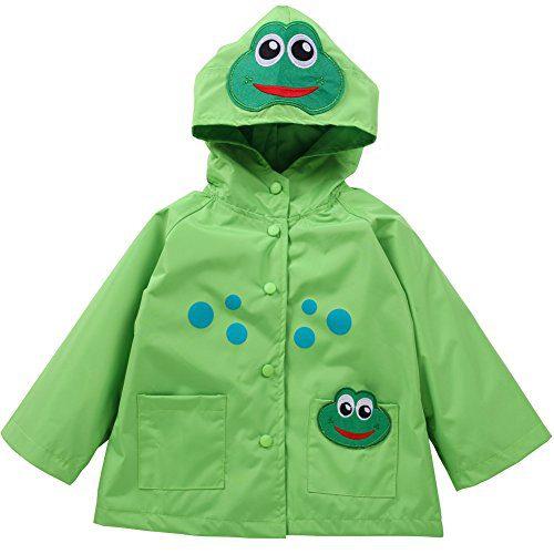 LZH Toddler Rain Jacket Girls Boys Raincoat Waterproof