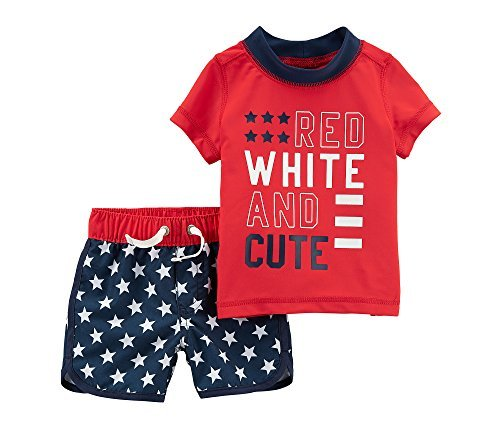 Carter's Baby Boys' 4th of July Rashguard Set 9 Months