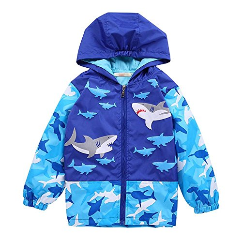Happy childhood Baby Boys 1-6Y Shark and Skull Hooded Jacket