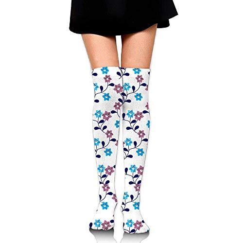 Kyliel Over the Knee Thigh High Socks,Lovely Flowers Print High Boot