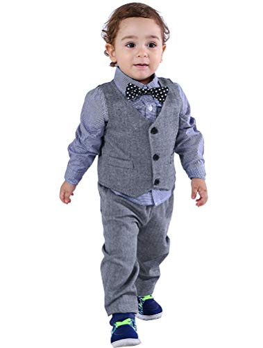 Abolai Baby Boys' 4 Piece Vest Set with Shirt
