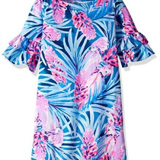Lilly Pulitzer Girls' Little Mini LULA Dress, Mr Peacock Blue Tweethearts M