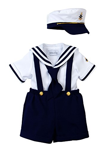 Spring Notion Baby Boys Sailor Set with Hat Style-A Small