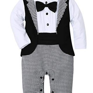 WESIDOM Baby Boy Suit Tuxedo Outfits Set,Toddler Gentlemen