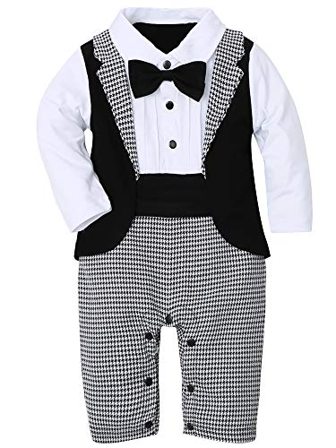 WESIDOM Baby Boy Suit Tuxedo Outfits Set,Toddler Gentlemen