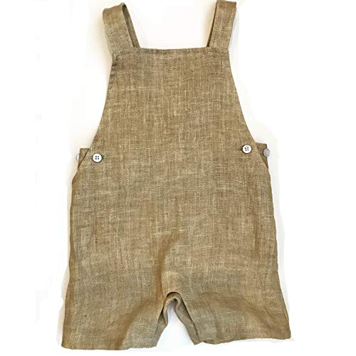 Hip Baby Wrap Linen Romper Jumpsuit for Infants and Toddlers