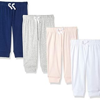 Amazon Essentials Baby Girls 4-Pack Pull-On Pant
