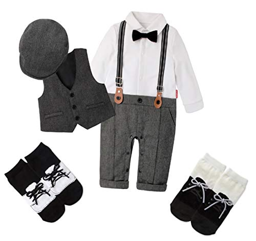 Baby Boys Little Gentleman Long Sleeve Bow Tie
