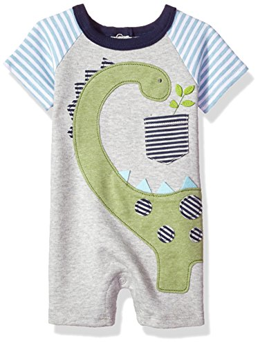 Mud Pie Baby Boys' Shortall One Piece, Dinosaur 0-3 Months