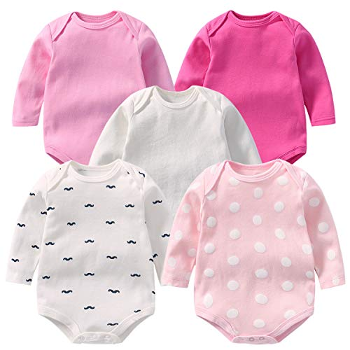 OLCHEE Baby's Long Sleeve Bodysuit Cotton Onesies