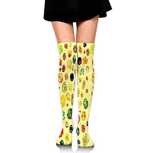 Kyliel Over the Knee Thigh High Socks,Stone Circle Print High Boot