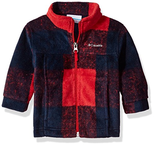 Columbia Baby Boys' Zing Iii Fleece Jacket, Mountain Red Buffalo Plaid