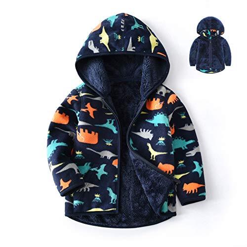 Feidoog Toddler Polar Fleece Jacket HoodedBaby Boys Girls
