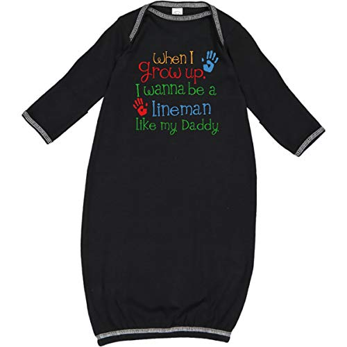 inktastic - Lineman Like Daddy Newborn Layette Black