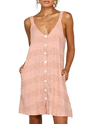 Asvivid Womens Sleeveless V Neck Button Down