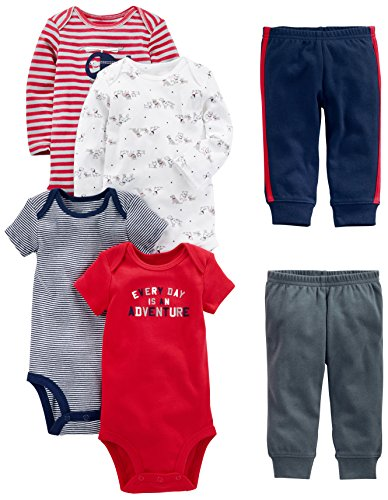 Simple Joys by Carter's Baby Boys 6-Piece Little Character Set