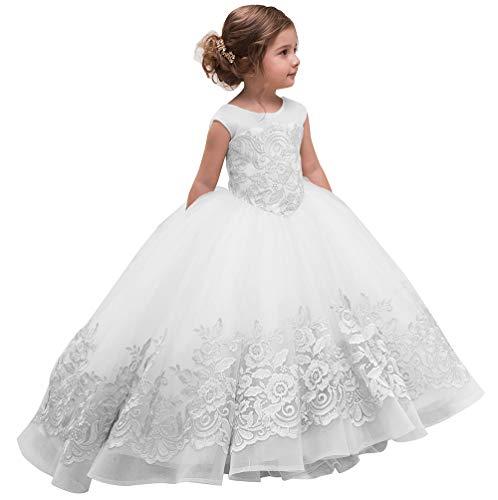 Elegant Flower Girl Dress for Wedding Kids Sleevelesss
