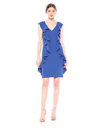 Trina Trina Turk Women's Sweetheart Ruffle Front Dress