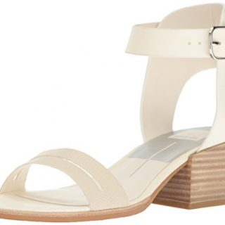 Dolce Vita Women's Rae Heeled Sandal, Off White Leather