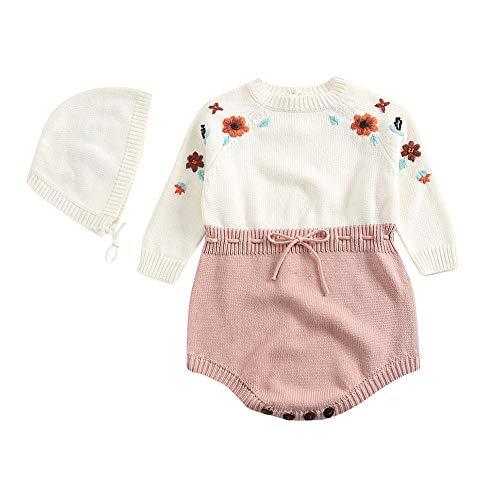 LIKESIDE Baby Boys Girls Flower Knit Romper Bodysuit
