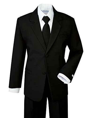 Spring Notion Boys' Formal Black Dress Suit Set