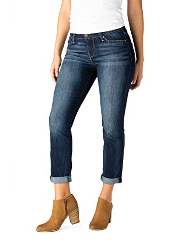 Signature Women's Modern Slim Cuffed Jeans 5 Pocket Cuff Jeans