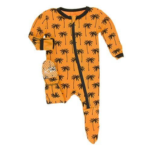 Kickee Pants Little Boys Print Footie with Zipper