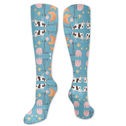 Snabeats Down On The Farm (Turquoise Colorway) Compression Socks