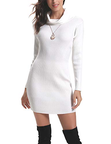 Abollria Women Long Sleeve Turtleneck Knit Stretchable