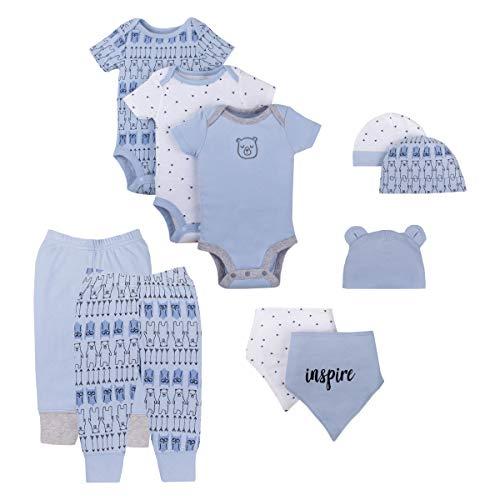 Lamaze Organic Baby Boys Baby Organic 10 Piece Gift Set, Blue NB